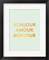 Framed Bonjour Amour