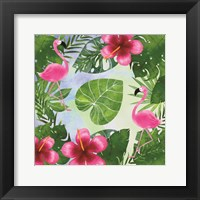 Framed Tropical Life Flamingo I