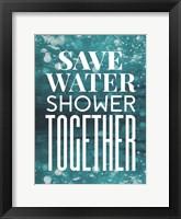 Framed Save Water