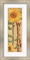 Framed Welcome Sunflower
