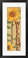 Framed Welcome Sunflower