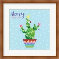Framed Christmas Cactus Star