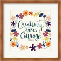 Framed Creativity Takes Courage