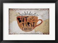 Framed Coffee Typography II