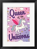 Framed Queen of the Unicorns