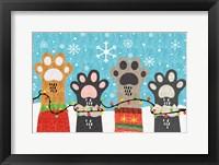 Framed Christmas Paws