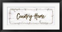 Framed Country Home