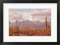 Framed Moonrise Over The Mountain