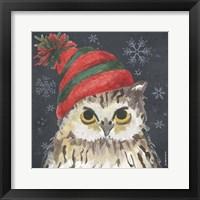 Framed Christmas Owl
