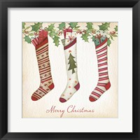 Framed Merry Christmas Stockings