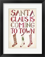Framed Santa Claus is Coming to Town