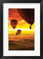 Framed Hot Air Balloons