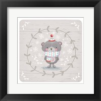 Framed Winter Baby Bear