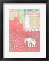 Framed Polka Dot Elephant