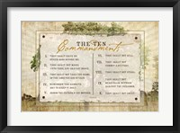 Framed 10 Commandments