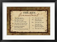 Framed 10 Commandments II