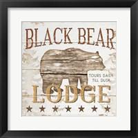 Framed Black Bear Lodge