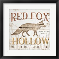 Framed Red Fox Hoolow