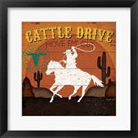 Framed Cattle Drive