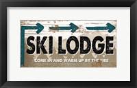Framed Ski Lodge