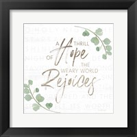 Framed Thrill of Hope