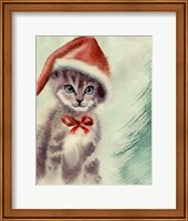 Framed Cat in Hat