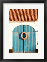 Framed Blue Doors
