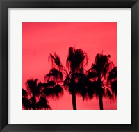 Framed Neon Palm Trees III