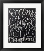 Framed Joyful Chalk