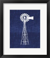 Framed Blue Windmill