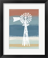 Framed Windmill on Stripes