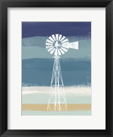 Framed Windmill on Stripes III