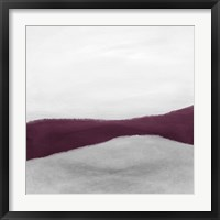 Framed Purple and White Abstract