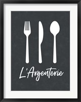 Framed French Silverware