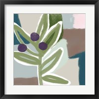Framed Olive Abstract