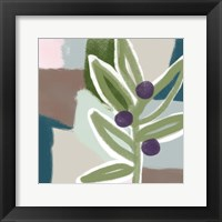 Framed Olive Abstract II