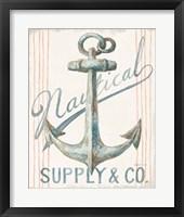 Framed Floursack Nautical V