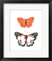 Framed Watercolor Butterflies III