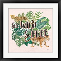 Framed Jungle Vibes VII - Be Wild and Free Pink