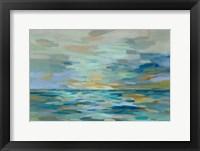 Framed Pastel Blue Sea