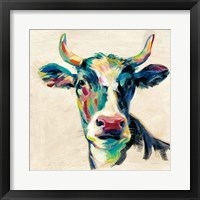 Framed Expressionistic Cow II