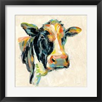 Framed Expressionistic Cow I