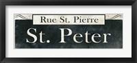 Framed French Quarter Sign III
