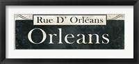 Framed French Quarter Sign II