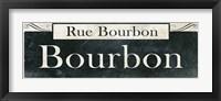 Framed French Quarter Sign I