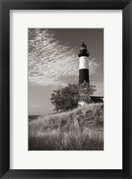 Framed Big Sable Point Lighthouse II BW
