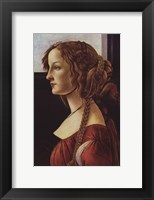 Framed Portrait of Simonetta Vespucci