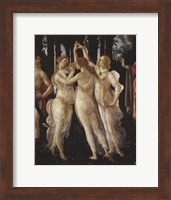 Framed La Primavera (Spring) Detail of Three Graces