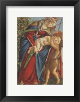 Framed Madonna with Child Embracing the Young St John
