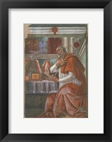 Framed Saint Augustine in his Cell